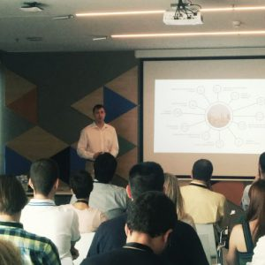 Samuel Martin de Microsoft durante el evento BI Barcelona 2016