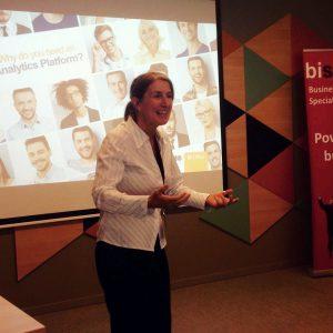 Teresa Martinez de Pyramids durante el evento BI Barcelona 2016