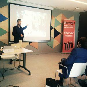 El equipo de marketing en el evento BI Barcelona 2016