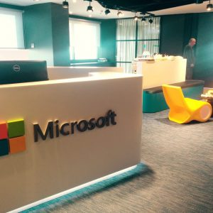 Microsoft building during the BI event Barcelona 2016