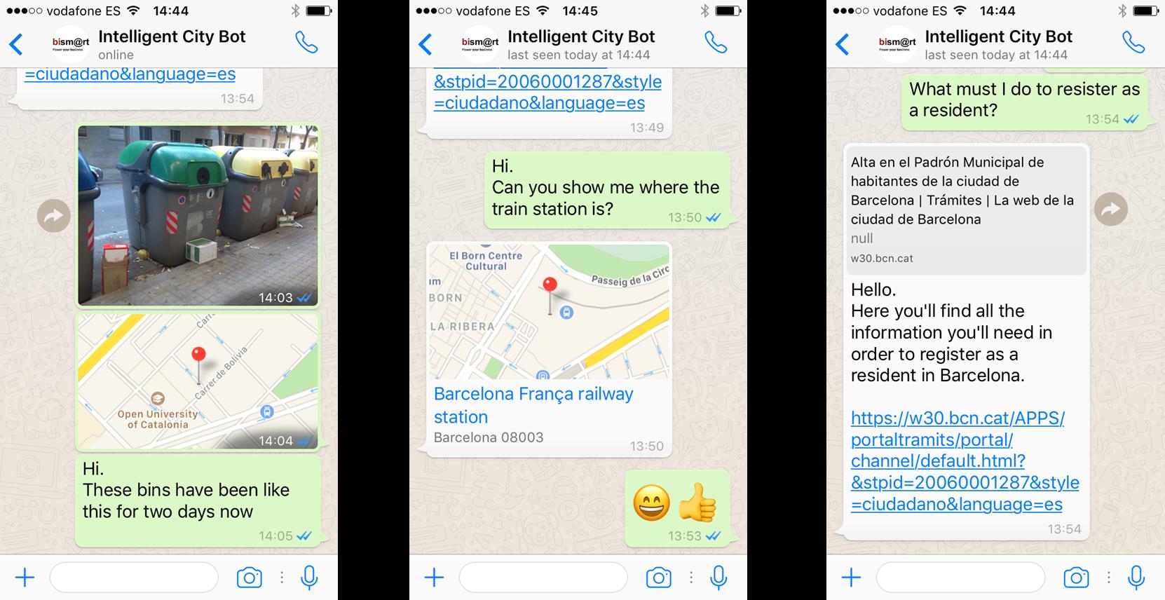 bismart whatsapp Intelligent City Bot